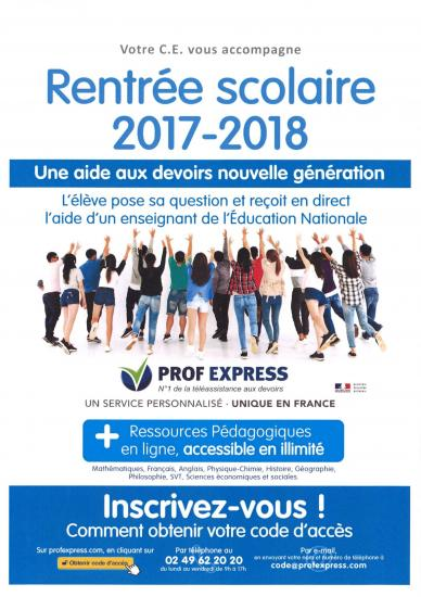 Affiche rentree 2017prof express