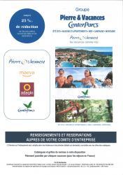 Affichette reductions pierre vacances