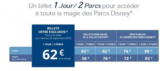 Disney tarifs jusqu au 26 09 18