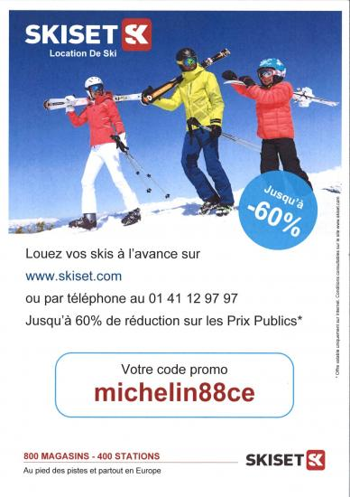 Skiset code partenaire